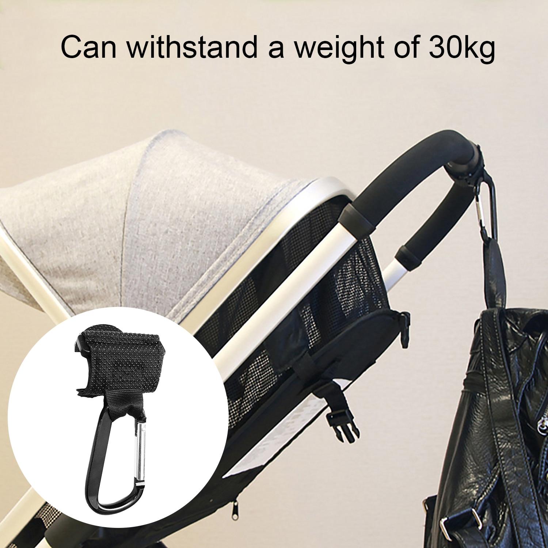 1PCS Non-slip Baby Stroller Hooks Clips With Hand Strap Multi Purpose Stroller Pushchair Pram Carriage Shopping Bag Hanger Hooks