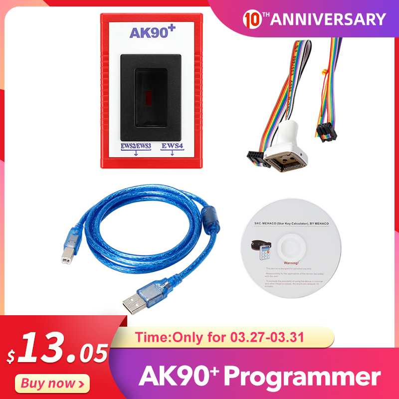 AK90 For BMW V3.19 AK90+ OBD2 Car Key Programmer For BMW EWS From 1995-2009 AK90 Key Programmer Free Shipping