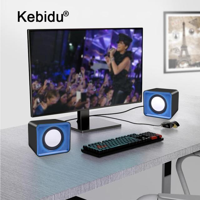 kebidu Universal USB 2.0 Music Speaker Mini Music Stereo Speakers 3.5mm Pulg For Multimedia Desktop Computer Notebook 1