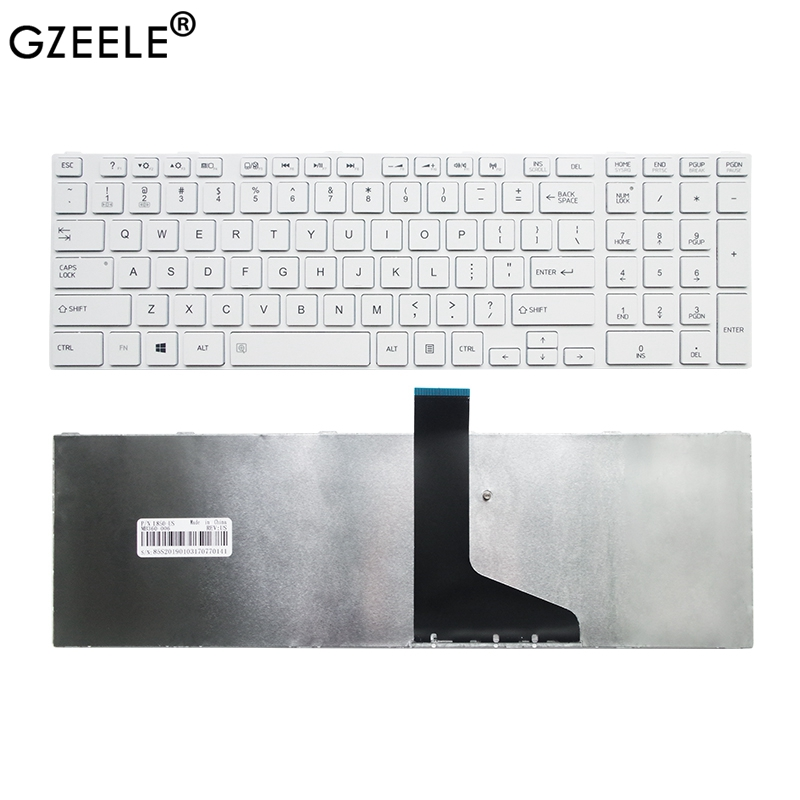 GZEELE US Laptop Keyboard For Toshiba L850 L855 L870 L850-T01R P850 S850 S855D US English Layout White Frame Notebook Keyboard