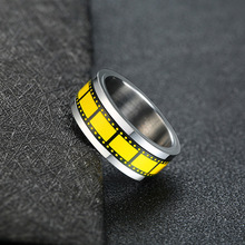 цены Fashion Stainless Steel Silver Color Men Spinner Ring Punk Jewelry Personality Male Rings Size 7 8 9 10 11 12