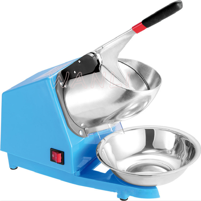 220V HK108 Commercial Ice Crusher Double Knife Ice Machine Ice Blender Electric Smoothie Machine Ice Block Breaking Grinder  OEM