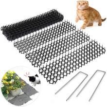Faixa de coque repelente de gato, fita de 3cm x 49cm para jardim, tira de coque portátil anti-resistente, 10 peças cão gato fornecimento jardim ao ar livre