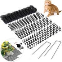 Tira de espinela de jardín repelente de gatos, estera de disuasión, portátil, antigato, perros, suministros de jardín al aire libre, 10 Uds. 13cm x 49cm