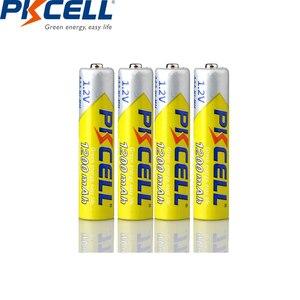 Image 4 - 4 個pkcell 1.2v 1200 1350mah aaaのバッテリーニッケル水素aaa充電式電池と 1pcバッテリー用懐中電灯おもちゃマイク