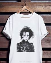 Edward ciseaux mains Art T-Shirt, Johnny Depp T-Shirt réimpression Cool décontracté fierté T-Shirt hommes unisexe mode T-Shirt(China)
