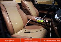 two seats original leather seat Heated heating Heater Seat Pads Winter Warmer Seat Covers support with timer and waterproof