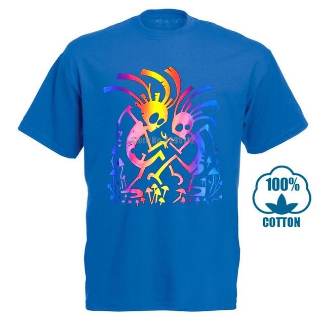Dancing mates rave psy trance goa t-shirt Glows UV black light lsd mushrooms