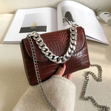 Fashion Crocodile Pattern Women Mini Shoulder Bags PU Leather Ladies Chain Messenger Bag Luxury Design Girl Evening Clutch Purse brand crocodile clutch purse luxury party evening bags pu leather shoulder bag women messenger bag clutches key phone wallet