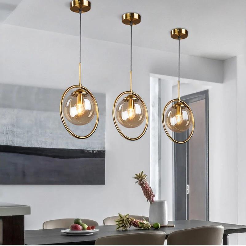 modern gold glass pendant lamp round ball mirror ball light fancy modern pendant light for living room hanging light fixtures