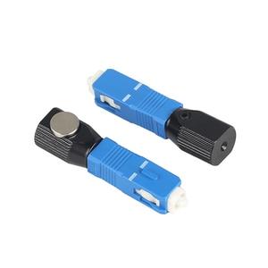 Image 5 - Conector óptico redondo de fibra óptica SC, convertidor de adaptador de acoplador de fibra óptica desnuda, envío gratis