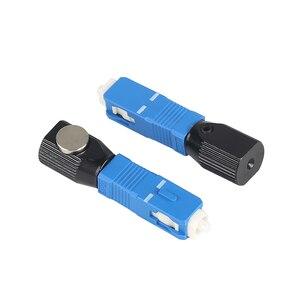 Image 5 - 무료 배송 광섬유 커넥터 라운드 sc 베어 광섬유 커플러 어댑터 변환기