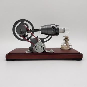 Stirling modelo de motor de una sola lámpara de un solo cilindro de combustión externa motor de vapor Kits educativos de Ciencia