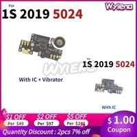 Wyieno Für Alcatel 1S 2019 5024 5024D 5024Y 5024K USB Dock Lade Port Stecker Ladegerät Flex Kabel Mit mikrofon MIC Bord
