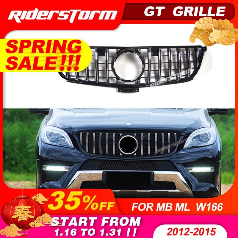 GT gitter Für Mercedes Benz ML Klasse W166 GT kühlergrill Frontgrill FÜR ML klasse ML250 ML300 grille front stoßstange w166 grill