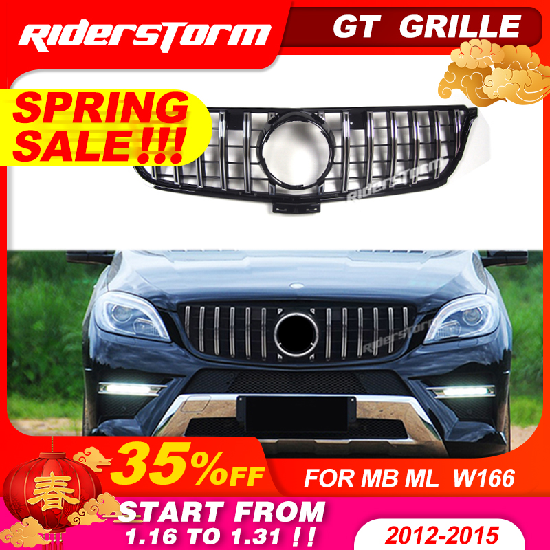 GT grille For Mercedes Benz ML Class W166 GT grille Front Grille FOR ML class ML250 ML300 grille front bumper w166 grill