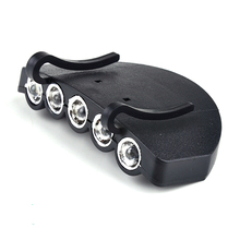 5LED Clip-On Clip Hat Cap Lamp Caplight Fishing Light Outdoor Camping lamp Night Accessories