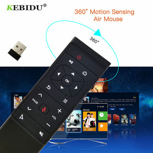 Image 2 - KEBIDU MT12 Voice Remote Control 2.4G Wireless Air Mouse Microphone Gyroscope For Android TV Box H96 X96 MAX HK1 TX6 A95X F1
