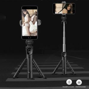 Image 1 - NEW Retractable Handheld Tripod Selfie Stick Bluetooth Extendable Monopod Selfie Stick Tripod for iPhone Samsung HuaWei XiaoMi