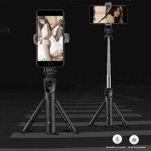 Tripé retrátil bluetooth, bastão de selfie extensível e retrátil, monopé, tripé para iphone, samsung, huawei e xiaomi
