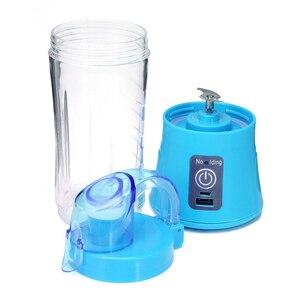 Portable Blender USB Mixer Electric Juicer Machine Smoothie Blender Mini Food Processor Personal Blender Cup Juicer P7Ding
