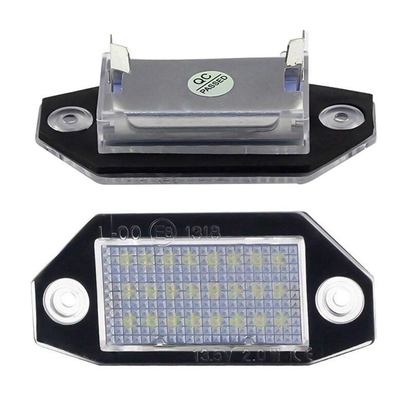 2 шт./лот 18 светодиодов номерной знак светильник для Ford MK3 2000-2007
