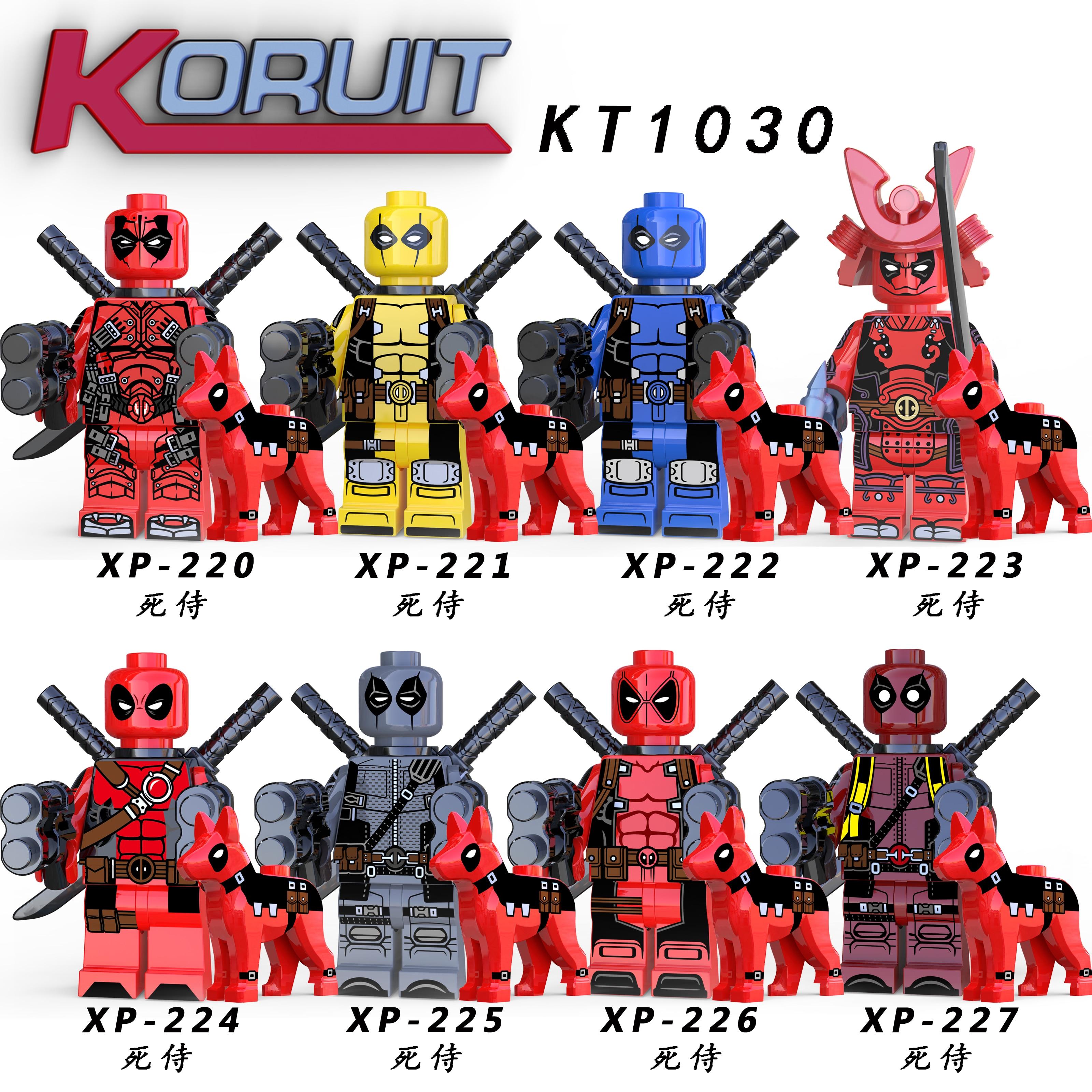 Single Sale Marvel Super Heroes Deadpool With Pool Dog Model Superhero Venom Building Blocks Kits Bricks Figure Toy Legoing