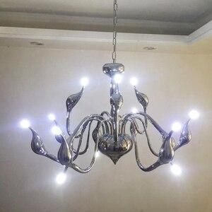Image 5 - Modern Led Swan Chandelier Lighting With G4 Led Bulb Chandeliers For Living Room Bedroom Nordic Design Wrought Iron Chandelier