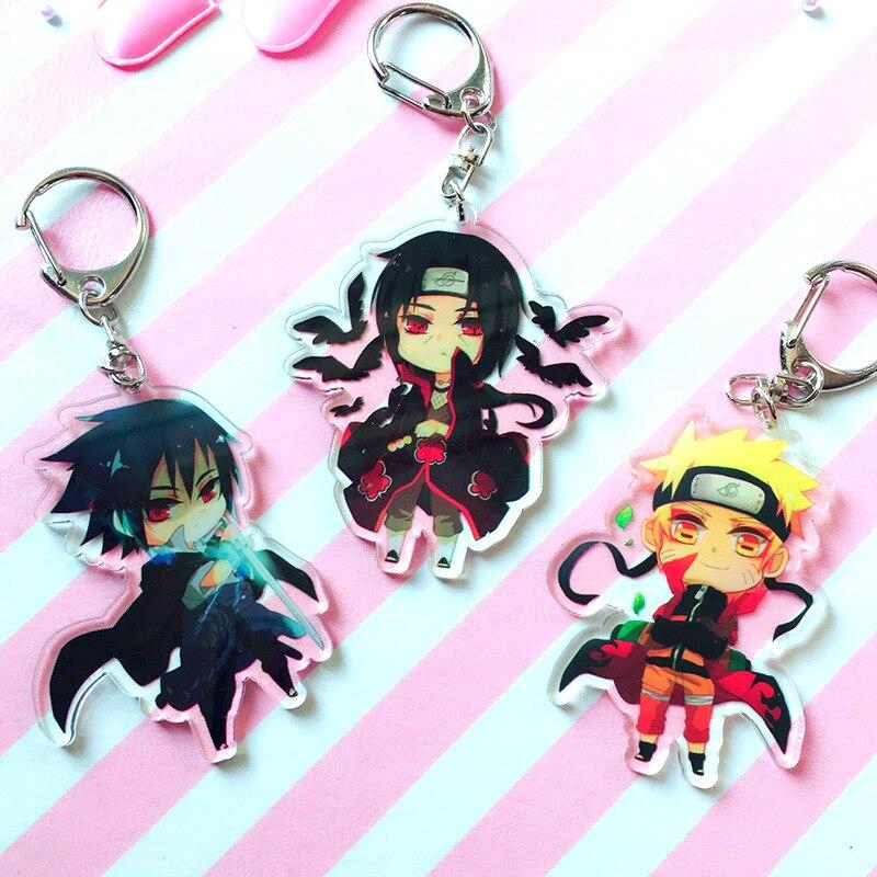 Naruto Sasori acrylic Keychain Key Ring Two faces Bag Ornament Keyring