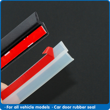 4 Meters Z type Car Door Seal strip sound insulation Transparent Black sealing strip high quality automobile Rubber sealing tape