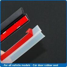 4メートルzタイプの車のドアシールストリップ遮音透明黒シールストリップ高品質自動車ゴムシールテープ
