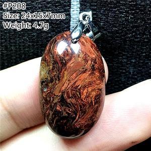 Image 4 - ธรรมชาติสีแดงPietersiteจี้สำหรับหญิงชายนามิเบียหินลูกปัดหยดสร้อยคอจี้เงินเครื่องประดับAAAAA