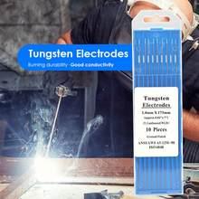 10 pièces/ensemble 175mm WL20 lanthane tungstène électrode baguettes de soudure pour Machine à souder 1.0/1.6/2.0/2.4/3.0/3.2/mm diamètre