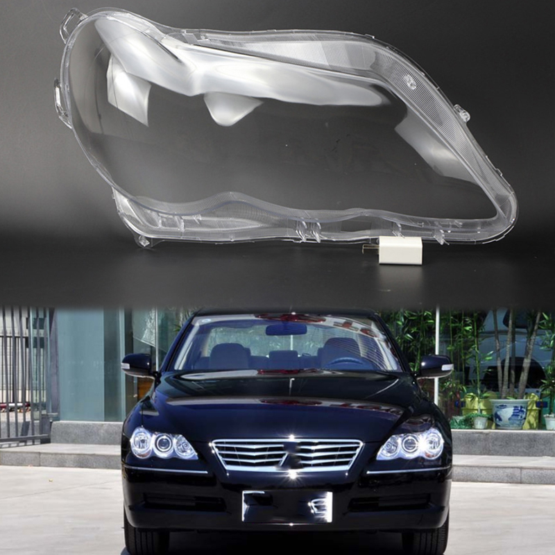 2pcs  lens lampshade Headlight headlight cover Lens lamp transparent housing Front headlight housing for Toyota Reiz 2005-2009