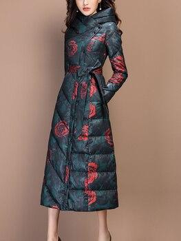 Chaqueta de plumón KMETRAM para mujer, abrigo de invierno, ropa para mujer, Chaqueta larga Vintage de moda 2020, chaquetón cálido para mujer MY4701