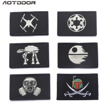 Поставка товаров серия Звездных Войн значок вышитый на липучке Наплечная эмблема сумка декоративная наклейка