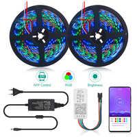 5 м 10 м WS2811 RGB Светодиодная лента 5050 SMD Адресуемая 30/60 светодиодный s/m SP110E Bluetooth приложение управление 1 Ic УПРАВЛЕНИЕ 3 светодиодный s пиксельные...