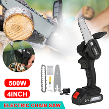 550W Cordless Electric Saw Chainsaw 4 inch ChainSaws with Thermostat 15000Mah Lithium Battery For Woodworking Garden Tools