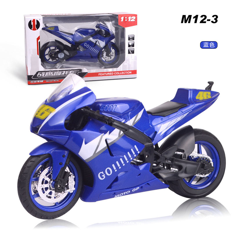 <font><b>1:12</b></font> Alloy Motorcycle <font><b>Model</b></font> Pull Back <font><b>Car</b></font> <font><b>Diecast</b></font> Metal Toy Vehicles Light Motorcycle <font><b>Car</b></font> For Kids Birthday Gifts Toy Collection image
