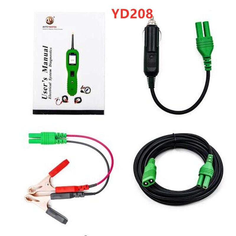 YD208 sonde de puissance voiture Circuit électrique outils automobiles outil de balayage de puissance voiture testeur de Circuit automobile comme Autek Autel PS1