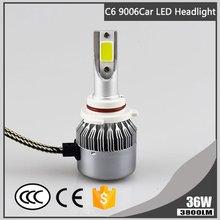 Led-Headlight Cree 2pcs Auto-Bulbs Car Hi/lo-Beam Cold 6000K High-Power C6 36W COB 3800LM