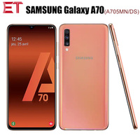 Original Samsung Galaxy A70 A705MN/DS Mobile Phone 6GB RAM 128GB ROM Snapdragon675 OctaCore 6.71080x2400 32MP 4500mAh NFC Phone