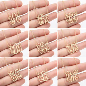 SMJEL Personalize A-Z Alphabet Necklaces Stainless Steel 26 Letter Initial Charm Necklace for Women Vintage Jewelry Design Gift
