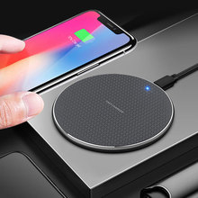 Keajor 10 w carregador sem fio para iphone 11 mini portátil de metal qi carregamento sem fio para samsung s10 s9 s8 xiaomi huawei carregador