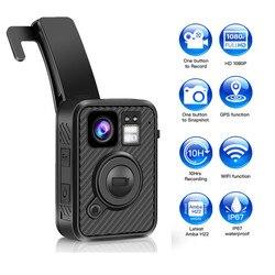 BOBLOV Wifi Kamera policyjna F1 32GB Kamera ciała 1440P zużyte kamery do egzekwowania prawa 10H nagrywanie GPS Night Vision nagrywarka dvd w Kamery nadzoru od Bezpieczeństwo i ochrona na