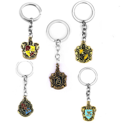 Europe And America New Style Harri Potter Hogwarts Magic School Keychain Films And Television Products Accessories