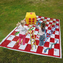 Outdoor Inflatable Mat Snake Ladder Chess Educational Kids Toys Portable Flying Chess Board Game Parent-child Family party Game