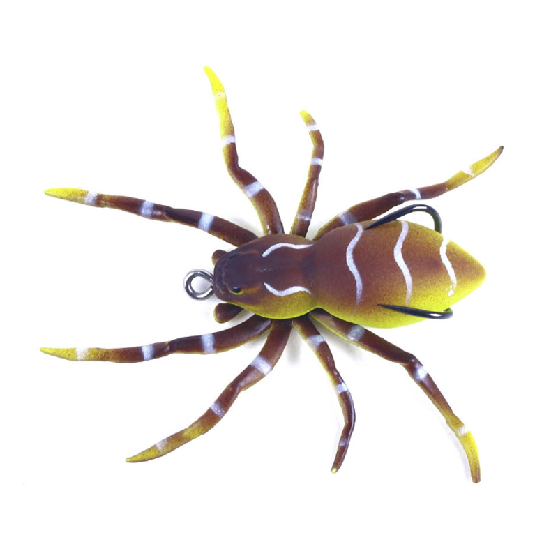 """Details about  /Phantom Spider Hollow Body 3/"""" 7g Topwater Bait Soft Rubber Fishing Lure Tackle"""