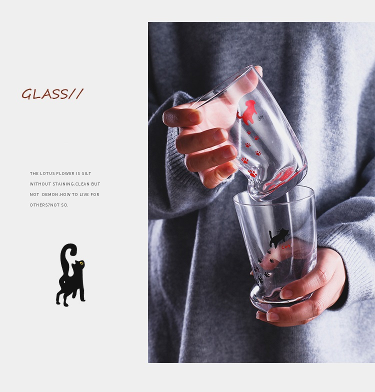 H0866145aff374ed38f12fbcb0edc788e1 - 350ml Mug Heat-resistant Glass Cat Cup Tiger Paws Office Matte Cat Paws Creative Milk Coffee Cup Cute Children Drink Bottle
