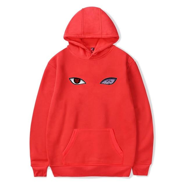 Kpop Harajuku Anime Hoodies Naruto hoodie sweatshirt Hip Hop Naruto clothes Uchiha Hatake Eyes Printing Pullover Sweatshirts